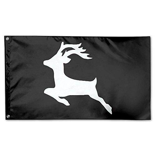 YUANSHAN Home Garden Flag Reindeer Christmas Polyester Flag Indoor/Outdoor Wall Banners Decorative Flag Garden Flag 3' X 5' ()