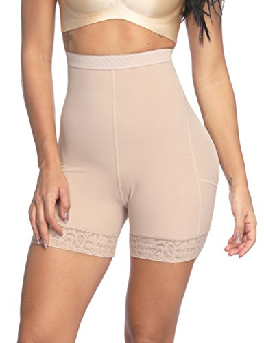 Lover-Beauty Women's Body Shaper Panty Butt Lifter Tummy Control Seamless Panty Waist Trainer Beige S