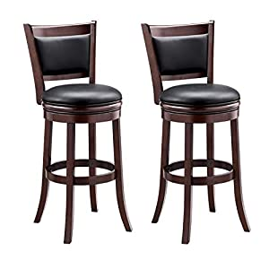 Ball & Cast Bar Height, Pack of 2 Swivel Stool, 29-Inch,2-Pack, Cappuccino