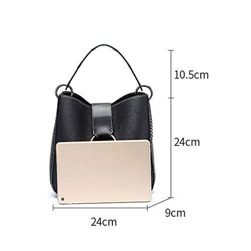 main sac épaule mode Femmes PU coréenne Bag seau version à sac Black Lxf20 Messenger du sac sauvage UqxOZB