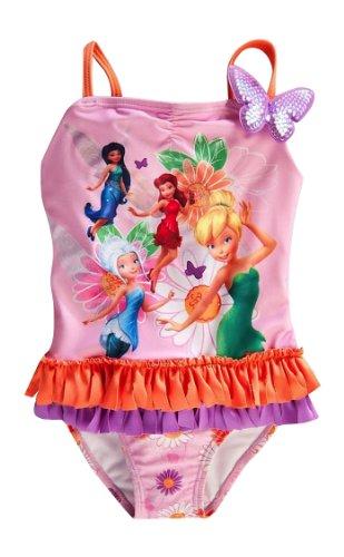 Disney Store Fairies Swimsuit Small 5/6 Tinkerbell/Periwinkle/Rosetta/Silvermist (Tinkerbell Bathing Suit)