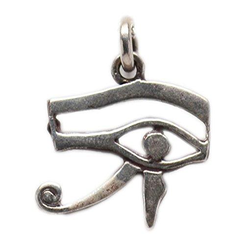 Egyptian Silver Eye of Horus Udjat Charm - Eye Pendant Udjat