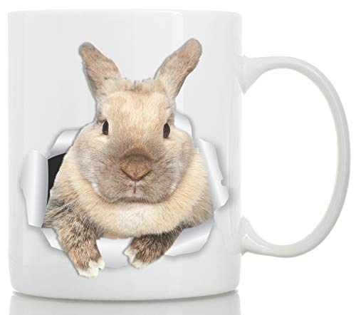 Rascally Rabbit Mug - Funny Bunny Coffee Mug - Perfect Bunny Gifts - Cute Rabbit Tea Cup (11oz) ()