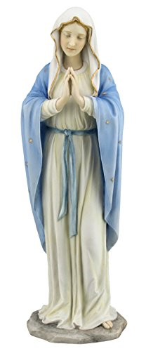 11.75 Inch Blessed Virgin Mary Decorative Figurine, Pastel Color