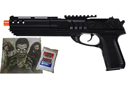 UKARMS Robocop 9C KS-91 Delta Spring Airsoft Gun Pistol – w/ 1000 BBS & Target –