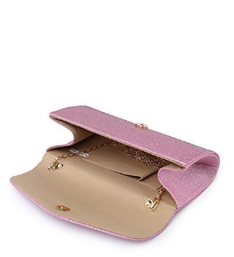 Diamante Party ME68037 Gold Glitter Handbag Women's Envelope Bag Ladies Evening Clutch 6zXw40