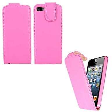 9bc1561f551 Sleek Gadgets - PREMIUM - Funda de piel con tapa para Apple iPhone 5, iPhone  5 G, 16 GB, 32 GB, 64 GB: Amazon.es: Electrónica