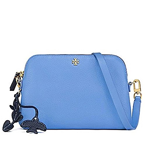 Tory Burch Crossbody Bag Leather Peace Love (Montego - Bag Tory Burch Blue