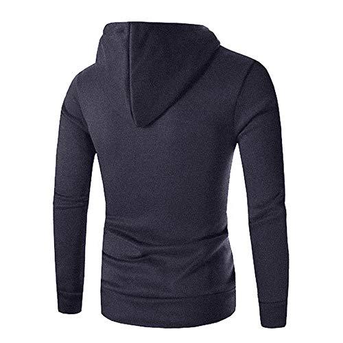 Swearshirt À Poche Chandail Manteau Foncé Hommes Outwear Gris Morchan Veste De Sweatshirt Capuche Solide xW406qwna