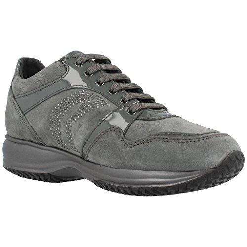 Geox Calzado Deportivo Para Mujer, Color Gris, Marca, Modelo Calzado Deportivo Para Mujer D Happy B Scam Gris gris