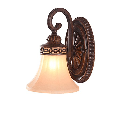 AIDELAI American Country Wall Iron Living Room Bedroom Mirror Front Lamp Continental Light Retro TV Backdrop Wall (Sconce Weeks Iron)