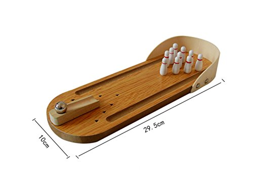 Mini Wooden Tabletop Bowling Game