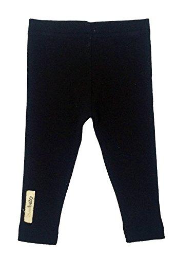 L'ovedbaby Unisex-Baby Organic Cotton Leggings (18-24 Months, Black)