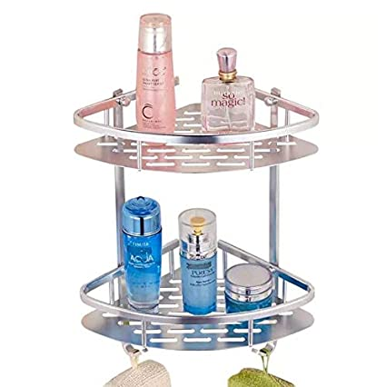 Aleación de aluminio esquinera para baño estantes, estante para ducha cesta de jabón champú toalla