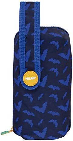 Milan 08872BAT Kit 4 Estuches con Contenido Bats&Bites Azul Estuches, 22 cm, Azul: Amazon.es: Equipaje