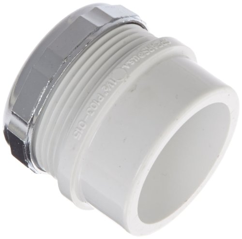 Female Trap Adapter - Spears P103X Series PVC DWV Pipe Fitting, Trap Adapter with Chrome Nut, 1-1/2