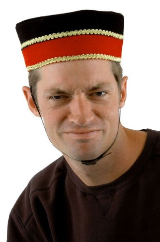 Bellhop Costume Male (Deluxe Bellhop/Usher Hat- Theatrical Quality)