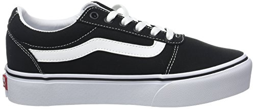 Ward Platform Femme Basses Black white Canvas Sneakers Vans 187 Noir canvas 7FqTwT