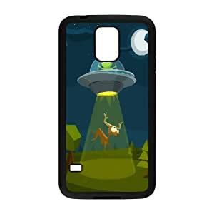 Samsung Galaxy S5 Cell Phone Case Black Cartoon ET Flying Saucer Deer Upyew