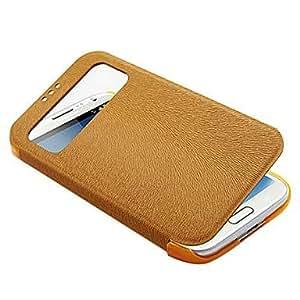 CeeMart Thin Flip PU Leather Case for Samsung Galaxy S4 I9500 Red