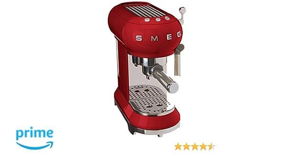 SMEG Máquina de café expreso ECF01RDEU, 1350 W, 2 kg, plástico ...