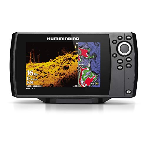 Humminbird 410940-1 Helix 7 Chirp Mega DI Fishfinder GPS Combo G3 with Transom Mount Transducer - Black