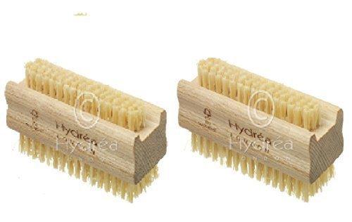 Hydrea besonders robuste Nagelbürste aus Holz mit festen Kaktusborsten, 2Stück 2Stück