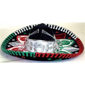 Mexican Mariachi Fancy Charro Sombrero Hat- Teen or Kid (Mexican Sombrero)