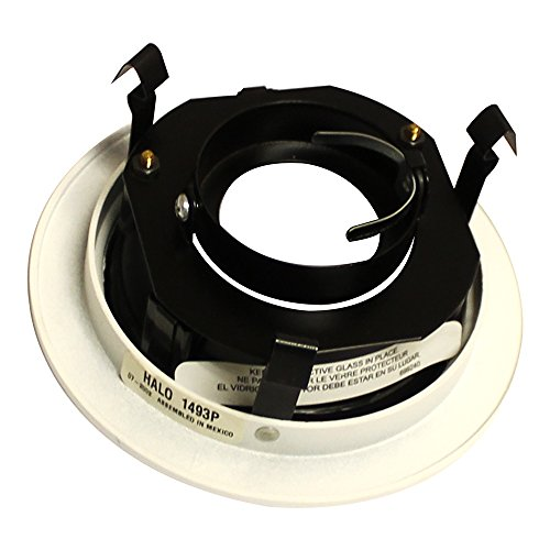 Halo Recessed 1493P 4-Inch Trim with Black Baffle, (Low Voltage Black Trim)