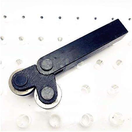 No Logo Rändelfräswerkzeuge Rändelwerkzeug Stahl mit Doppelrollen Linear Pitch Knurling Set 0.5mm 1mm 2mm Prägeradabschnitt 7pcs HSS Reticulated Knurling Hebt Handwerkzeug für Metalldrehmaschine