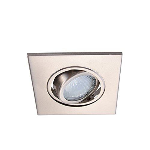 Eco Lighting NY HLV3006SN 3-Inch for both Line/Low Voltage Trim Recessed Light, Adjustable Square Gimbal Ring, All Satin Nickel (3 Light Mr16 Gimbal Ring)