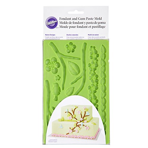 Flower Silicone Wilton (Wilton Silicone Nature Designs Fondant and Gum Paste Mold - Cake Decorating Supplies)