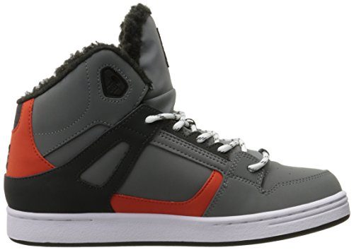 DC Universe Rebound Hi - Zapatillas de skateboarding para niños Grey/Black/Orange
