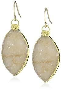 Mickey Lynn Jewelry Leaf Druzy Drop Earrings