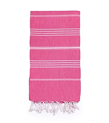 Eshma Mardini Natural Turkish Towel Peshtemal - 100% Natural Dyed Cotton - for Beach Spa Bath Swimming Pool Hammam Sauna Yoga Pilates Fitness Gym Picnic Blanket