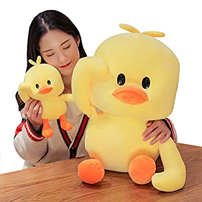 AIXINI Plush Yellow Duck Stuffed Animal Soft Toys 19.6inch Big Duckling with Rotatable Arm, Funny Bed Time Cuddly Pillow Gifts for Kids: Toys & Games