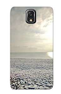 Anti-scratch And Shatterproof Phone Booth Nature Landscapes Beaches Ocean Sea Telephone Situation Humor Sky Manmade Phone Case For Galaxy Note 3/ High Quality Tpu Case