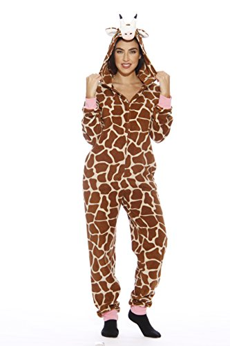 Giraffe Print Fashion - Just Love L6401-XXL-Giraffe #FOLLOWME Adult Onesie Pajamas