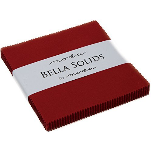 (Bella Solids Country Red Moda Charm Pack by Moda Fabrics; 42-5