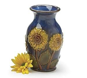 "Beautiful Porcelain 6""H Sunflower Vase Beautiful Floral Vase"
