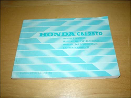 Honda superdream cb125td motorcycle owners handbook manual cb 125 honda superdream cb125td motorcycle owners handbook manual cb 125 td 125td cb125 super dream bike hand book amazon honda books fandeluxe Image collections