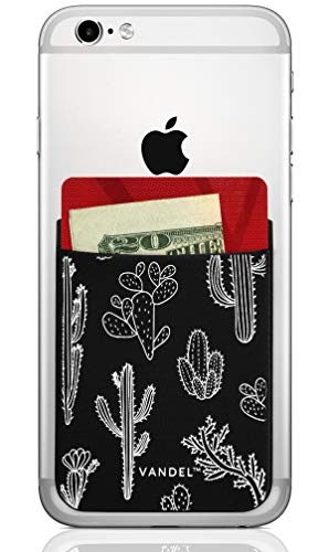 Vandel Pocket: Stick On Fabric Cell Phone Wallet | Credit Card Holder for Back of Smartphone Case | Stretchy Fabric Adhesive Sleeve Compatible with All Devices Alpha Epsilon Pi Screen