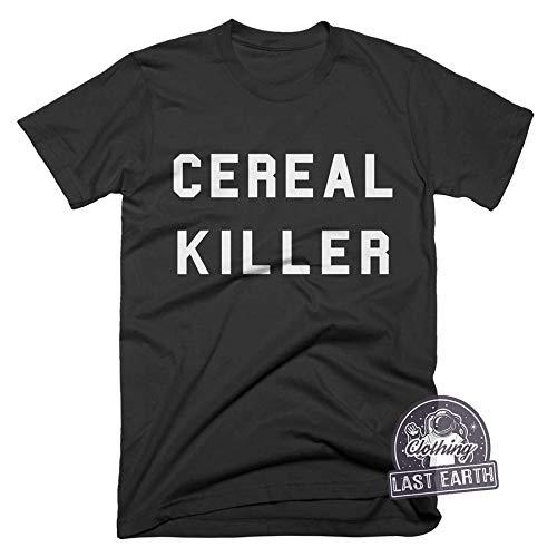 Cereal Killer Shirt Funny Foodie Shirt Cereal Tshirt Funny Slogan Shirts Puns Mens Shirts Halloween T Shirt -