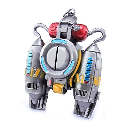 Ginkago Fortnight Game Fan Art Battle Royale Jetpack Model Alloy Keychain Action Figure Best Gifts for Boys Girls Kids Fort Game Lovers -