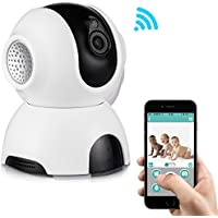 Rukerway Wireless IP Camera, Baby Monitor With Two-Way Audio, Night Vision 720P IP Camera, Motion Detection Alert, Home Security Surveillance Camera Indoor App Camera for Pet, Senior And Property