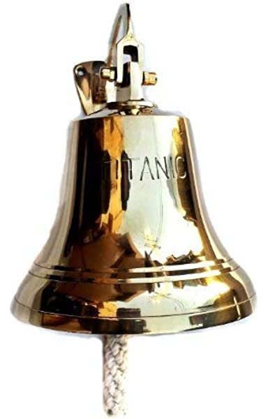 "Details about  /7/"" Antique Brass Titanic Ship Bell Wall Decor Maritime Nautical Designer Anchor"