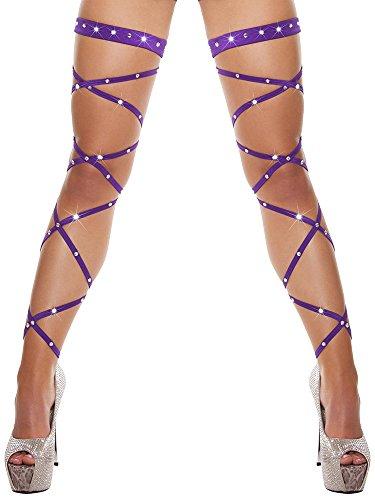 Aibearty Women Shiny Rhinestone Leg Wraps for Raves, Dancing, Music Festival