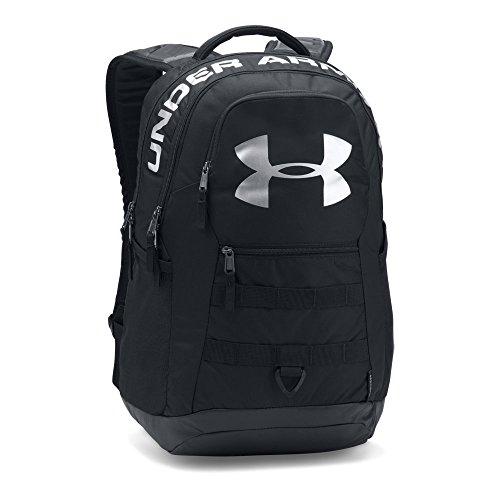 Under Armour Big Logo 5.0 Backpack,Black (001)/Silver, One Size