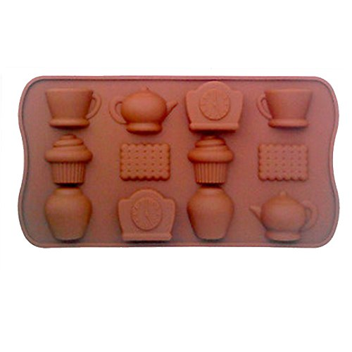 Anofora Candy Chocolate Silicone Mould Cup Teapot Tray Shape Bake Ice Cube For Party
