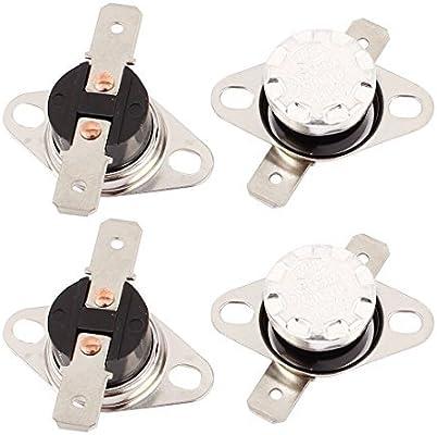 DealMux 4PCS KSD301 115C 239F NC termostato Temperatura interruptor de controlo térmica